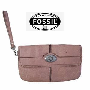 Fossil Marlow Maddox Leather Flap Closure Wristlet/Wallet